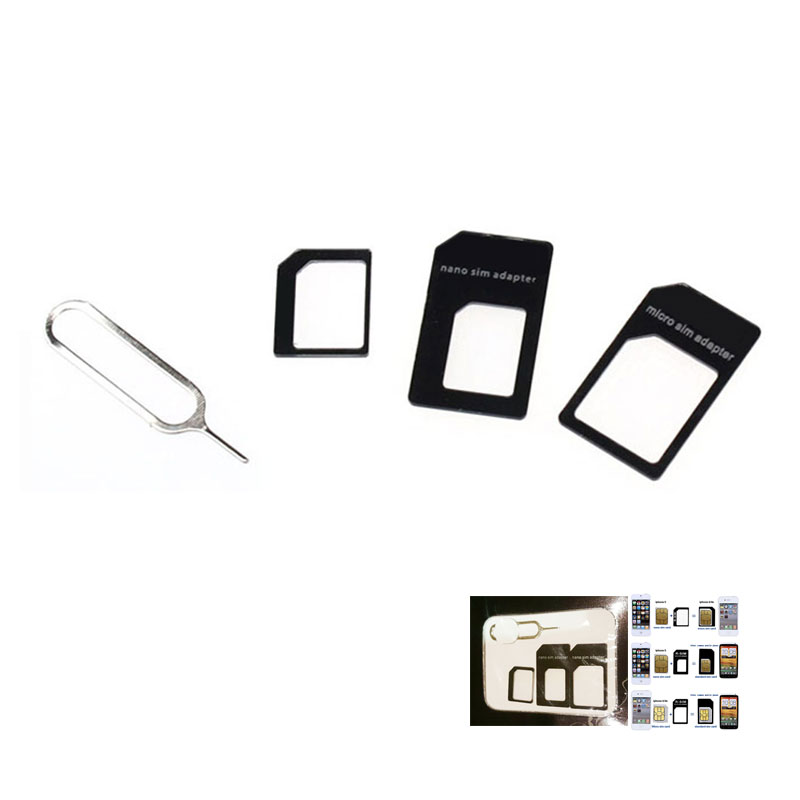 new convert nano sim card adapter for iphone 5 nano sim adapter sets sim card full sim card. Black Bedroom Furniture Sets. Home Design Ideas