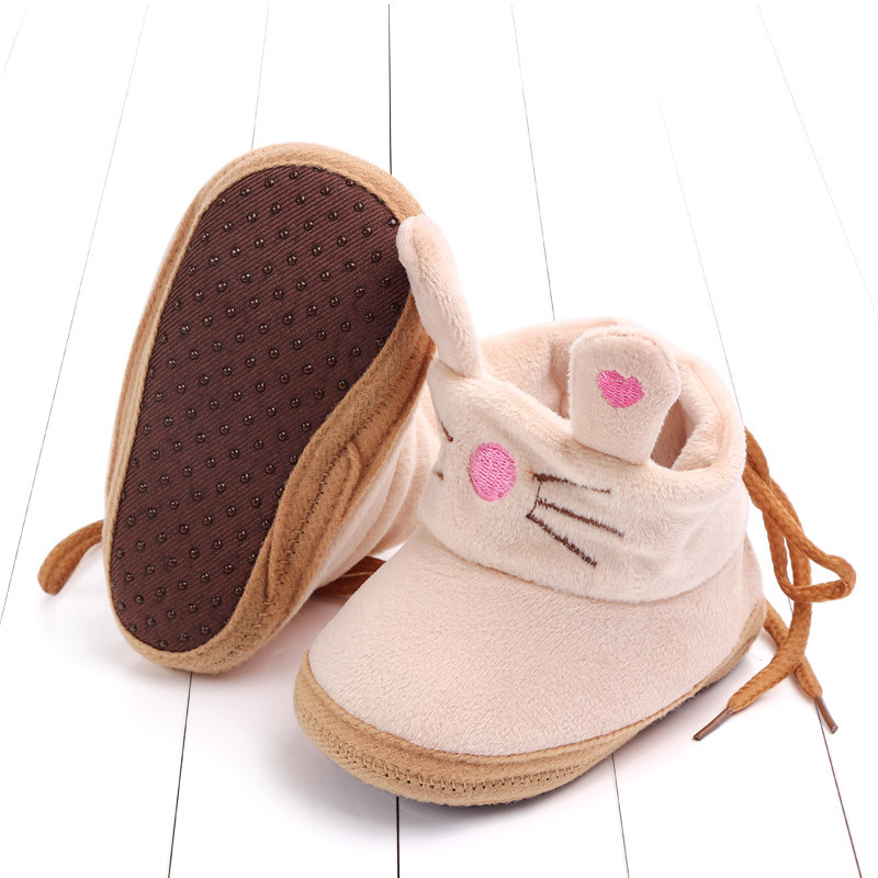 Indoor First Walkers Baby Shoes Cotton Anti-slip Booties Winter Wammer Baby Girl Boy Shoes Newborn Slippers Footwear Booties (31)