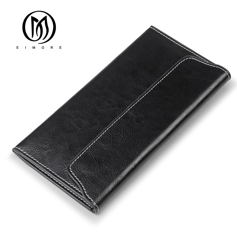 EIMORE 2018 Genuine Leather Women Wallet Long Purse Vintage Solid Cowhide multiple Cards Holder Clutch Fashion Standard Wallet famous brand 2017 genuine leather women wallet long purse vintage solid cowhide multiple cards holder clutch carteira feminina