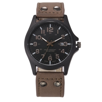 Men Watches Leather Strap Date Wristwatch Male Military Army Sports Clock Erkek Saat relogio masculino montre homme reloj hombre