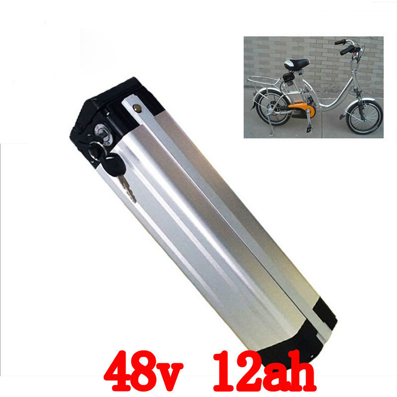 High Power 1000W Electric Bicycle Battery 48V 12Ah Lithium Battery 48v with 2A Charger 30A BMS E Bike Battery 48v Free Shipping 24v e bike battery 8ah 500w with 29 4v 2a charger lithium battery built in 30a bms electric bicycle battery 24v free shipping