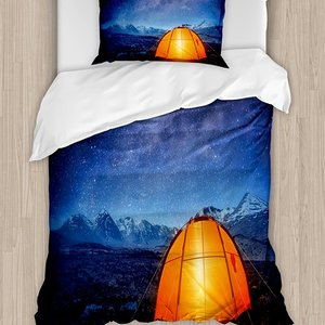 Night Duvet Cover Set Camping