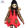 Kindstraum 2016 New Children Thick Cotton Hooded Jacket Brand Kids Pockets Super Warm Wear Fashion Winter Coats for Girls,RC846