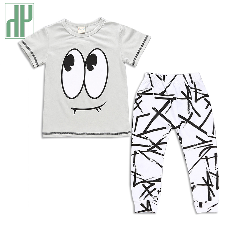 Baby boy clothes 2017 summer kids clothes fashion cotton letter t-shirt+pants baby girl clothes set infant newborn sport suits