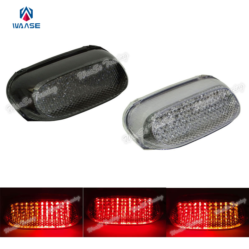 waase EMARK Motorcycle Rear Taillight Tail Brake Turn Signals Integrated Led Light For KAWASAKI ZZR 250 600 ZZR600 ZZR250 2004 waase for yamaha yzf r6 2006 2007 taillight rear tail light brake turn signals integrated led light