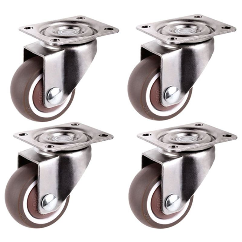 Mini Casters, 1 Inch/25 Mm Diameter, Ultra-quiet Wheel For Bookcase Drawers