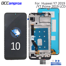 Original For Huawei Y7 2019 LCD Display Touch Screen Repair Parts Prime With Frame
