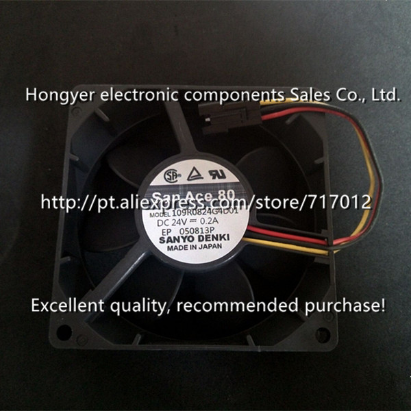 Free Shipping San Ace 80 109R0824G4D01 DC24V-0.2A(Good quality), Can directly buy or contact the seller