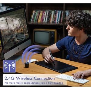 Image 5 - Huion Inspiroy Q11K 무선 디지털 그래픽 그리기 태블릿 펜 페인팅 태블릿 8192 레벨 8 익스프레스 키와 펜 홀더