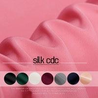 30m M Width 110CM High Quality Solid Color Heavy Silk Crepe De Chine Fabric