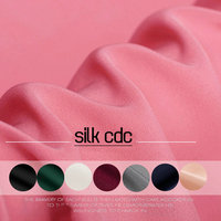30m M Width 110CM High Quality Solid Color Heavy Silk Crepe De Chine Fabric