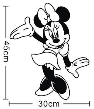 Dos desenhos animados Minnie Mouse Sticke Removível Decalque Da Parede Do Vinil Crianças Quarto Mural Art adesivos de Parede Crianças Quarto Do Berçário Decoração Da Casa