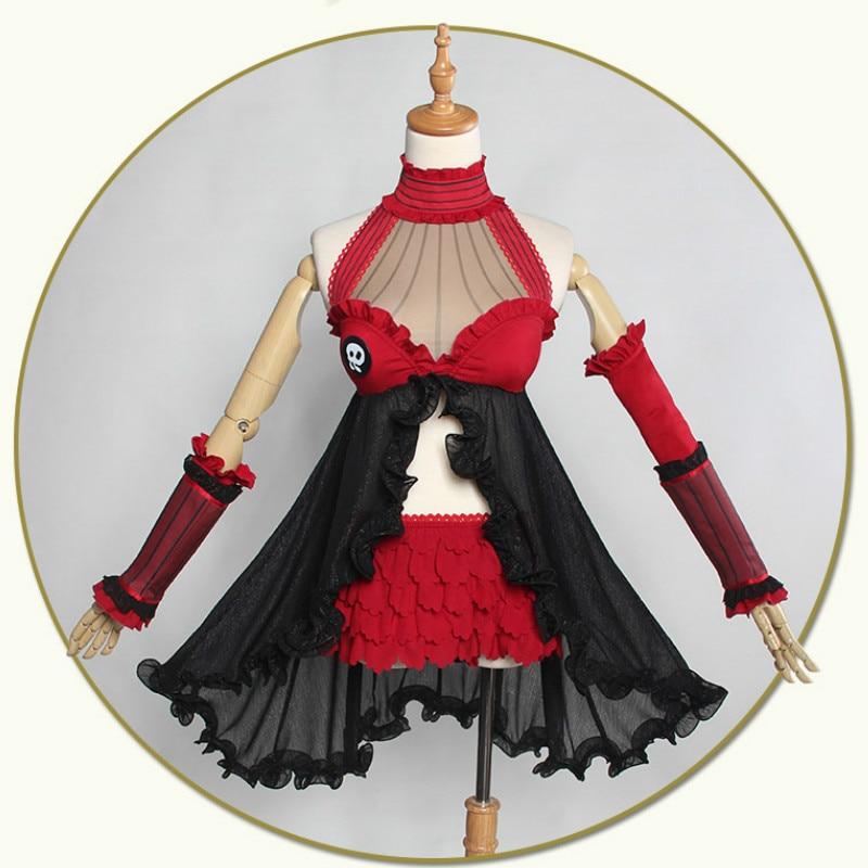Fate/stay Night Tohsaka Rin Cosplay Costume Fate/EXTRA Red Black Dress