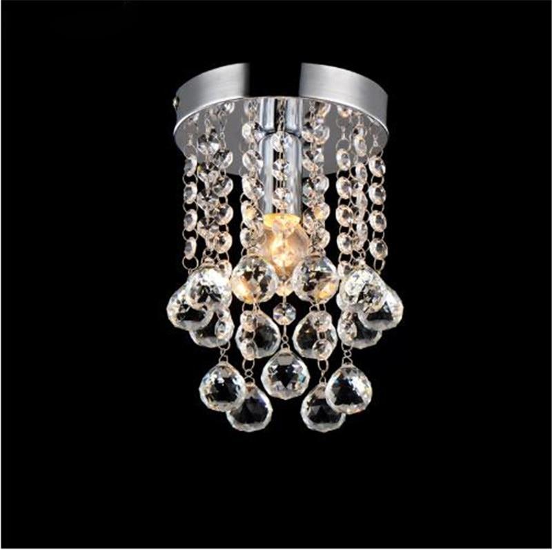 Luxury LED crystal chandelier lighting Corridor lamp lighting Chrome lustre fixtures free shipping MINI ceiling D150mm H230mm