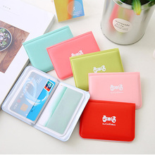 Fashion Cute Bow Credit Card Function 12 Bits Candy Color Lady Casual Simplicity Passport Bag Easily Carry Bags Gifts