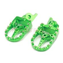 CNC Billet MX Foot Pegs Rests Pedals Footpegs QXmotor For  KLX450R 2008-2013 KX450F 2007-2016 KX250F 2006-2016