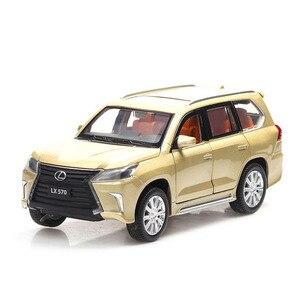 Image 1 - 1/32 לקסוס LX570/NX200t סימולציה צעצוע מכונית מודל סגסוגת למשוך בחזרה ילדי צעצועי אמיתי רישיון אוסף מתנה Off  כביש רכב