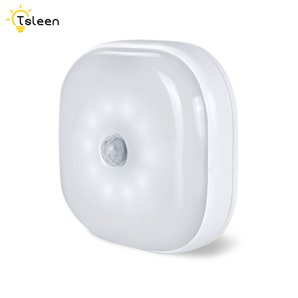 10 LED Infrared PIR Motion Sensor 10 Led Night Light Wireless Detector Light Wall Lamp Light Auto On Off Closet Battery Power in Night Lights from Lights Lighting