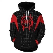 S-5XL 3d толстовки Толстовка с принтом паука супергерой пуловер для косплея для мужчин и женщин тренировочный костюм унисекс Повседневная осенне-зимняя одежда