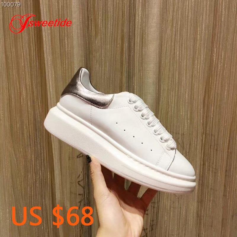 Ayakk.'ten Kadın Topuksuz Ayakkabı'de Kadın Ayakkabı Hakiki Deri yüksek kaliteli ayakkabılar Ayakkabı Düz Platform Tasarımcı Kadın Lüks Marka Takozlar Moda kadın ayakkabısı'da  Grup 1