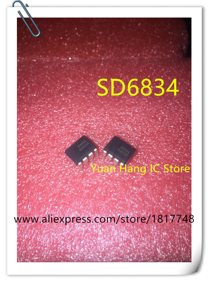 10PCS/LOT SD6834 <font><b>SD6834B</b></font> DIP8 New LED LCD power control chip image