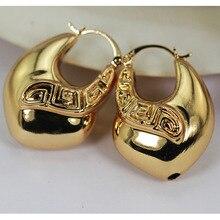 Новые Медные Серьги-кольца для женщин, большие золотые свадебные серьги-кольца, модные украшения, аксессуары в подарок EA128