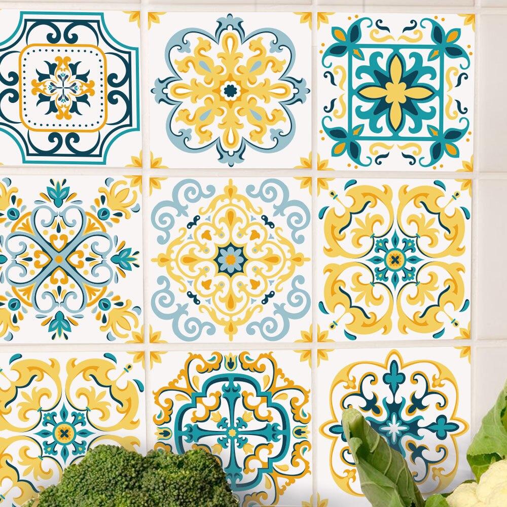 DIY Moroccan Style Tiles Vintage Classic Art Wall Sticker Waterproof ...