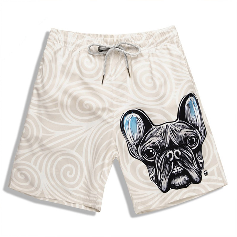 New Mens Dog Print Swimwear Swim   Shorts   Trunks Beach   Board     Shorts   Swimming   Short   Pants Swimsuits Running Sports Surfing S915019X