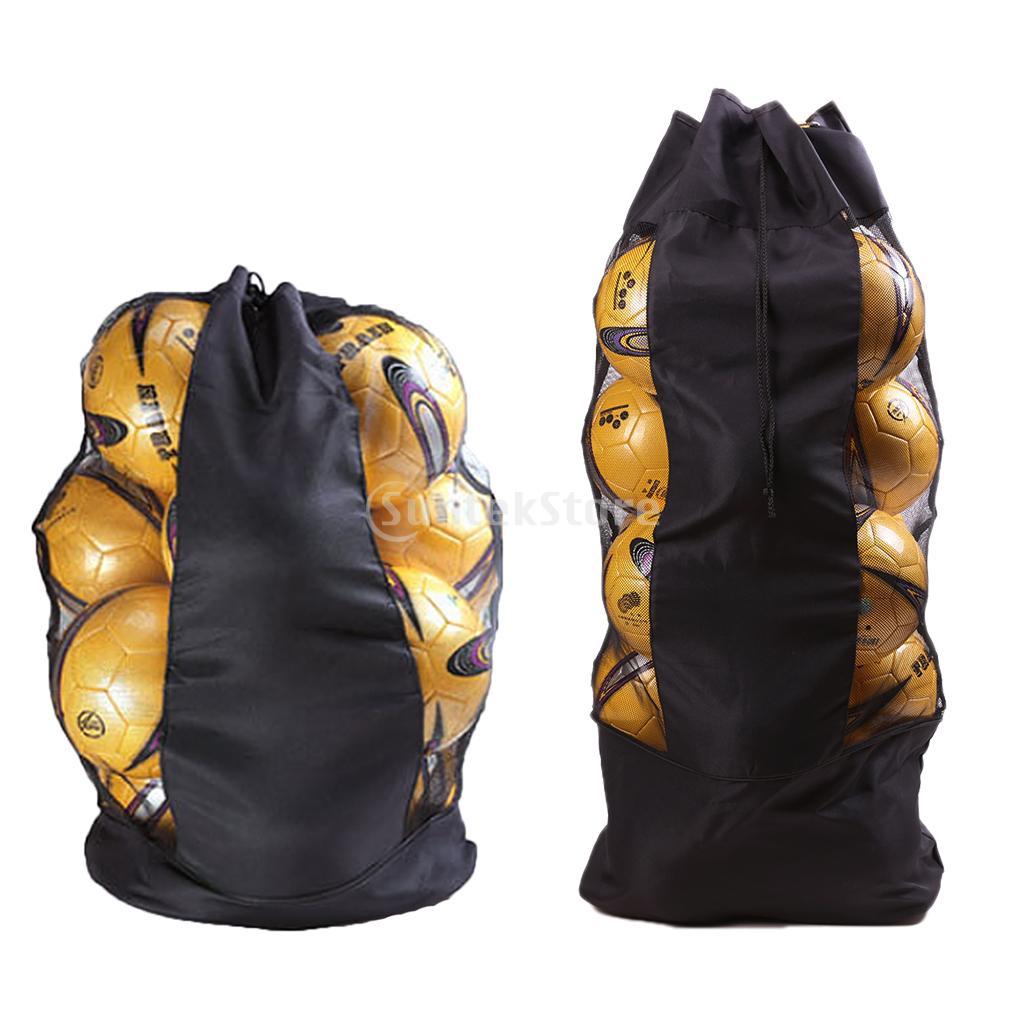 Large Heavy Duty Soccer Ball/Basketball/Volleyball Mesh Bag Adjustable Shoulder Belt