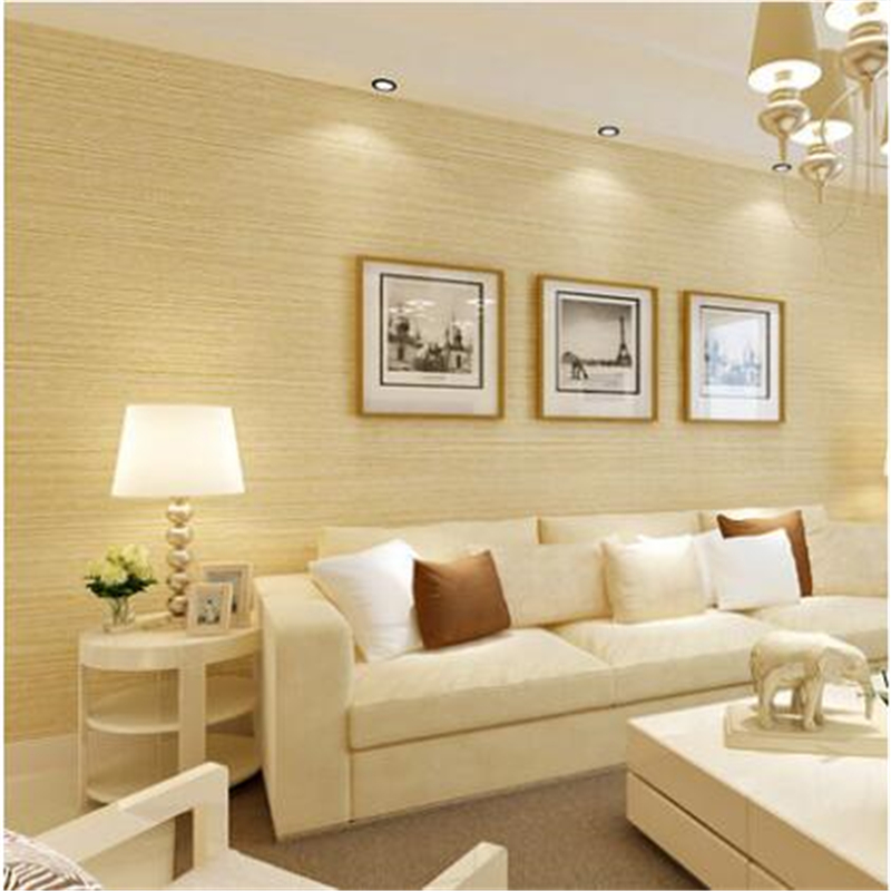 living room modern wallpaper beibehang new striped wallpaper bedroom color plain 12968