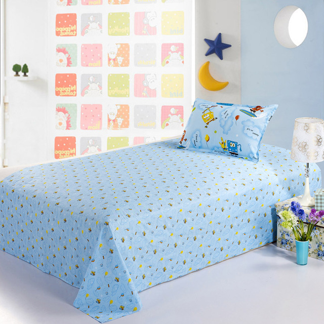 100% cotton 1 meters 1.2 meters single bed child bed sheets 100% laguan cotton princess cartoon