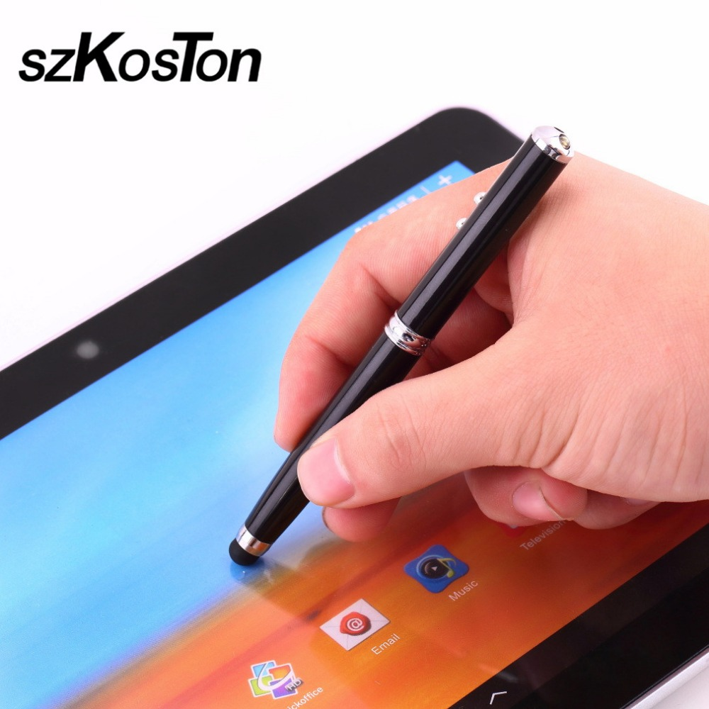 Durable 4 In 1 Soft Rubber Tip Laser Pointer LED Torch Touch Screen Stylus Ball Pen For Ipad For Samsung For Tablet For IPhone