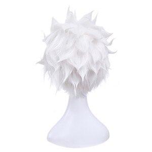 Image 4 - L email 가발 게임 운명 체재 밤 emiya cosplay 가발 28 cm/11.02 inch 백색 내열성 짧은 합성 머리 perucas cosplay 가발