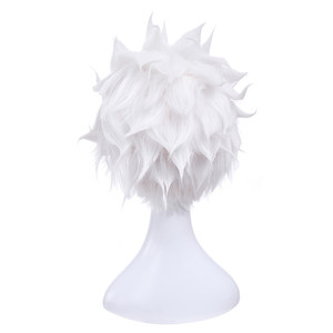 Image 4 - L mail parrucca del Gioco Fate Stay Night Emiya Cosplay Parrucche 28 cm/11.02 pollici Bianco Resistente Al Calore Breve capelli sintetici Perucas Cosplay Parrucca