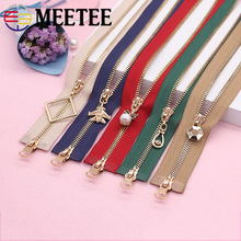Meetee Double Slider 5# 85-120cm Metal Zipper For Clothing Coat Jacket Handmade DIY Sewing Crafts Hardware Accessories AP546