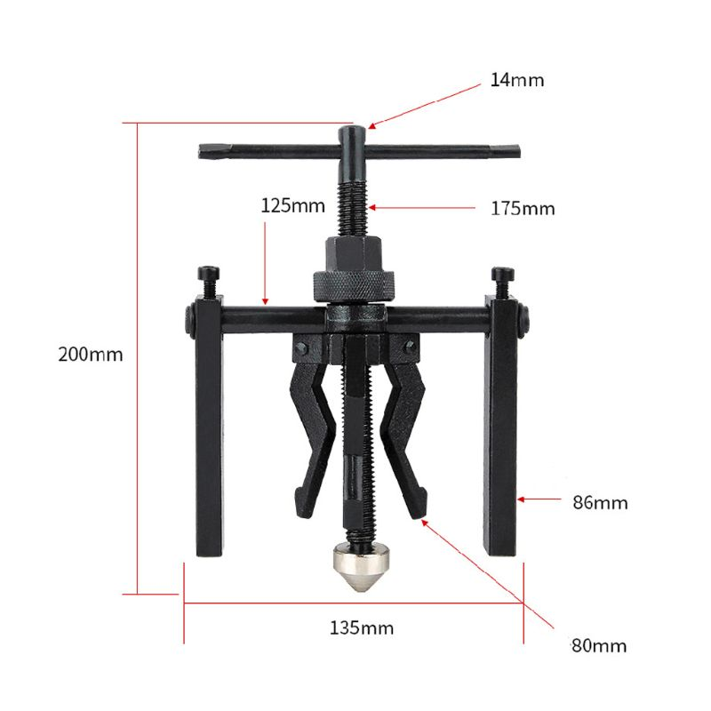 Image 5 - 3 Jaw Pilot Bearing Puller Auto Bushing Motorcycle Axletree Remover Extractor Tools For Vehicle Repairing