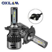 OXILAM Turbo H4 светодиодный лампы 9003 Hi lo луча 6000 K 9000lm 48 W CSP чип Автомобильная фара для Mercedes Benz W124 огни автомобиля