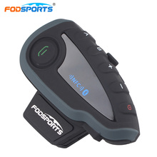 Fodsports V8 Motorcycle Helmet Bluetooth Intercom Full Duplex 5 Riders Talking Interphone Headsets with Controller NFC
