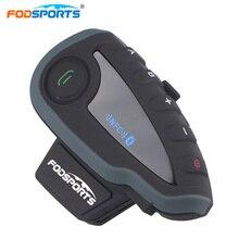 Fodsports V8 Motorcycle Helmet Bluetooth Intercom Full-Duplex 5 Riders Talking Interphone Headsets with Controller NFC Max 1200M