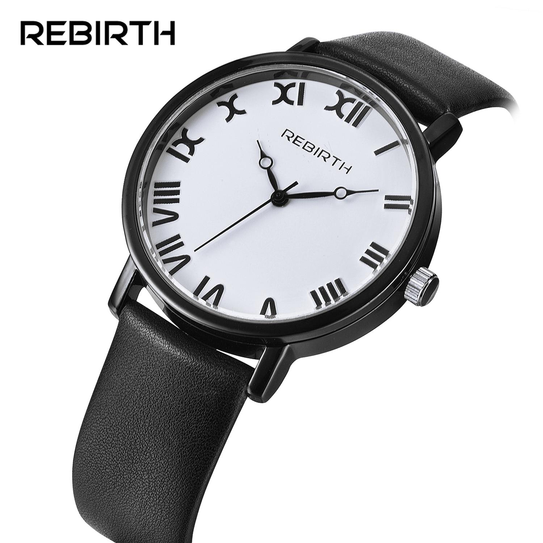 ODRODZENIE NOWY Marka Kobiety Mężczyźni Skórzane Zegarka Mody Zegarek  Kwarcowy Dress Unisex Cyframi Rzymskimi Zegarki na prezent relogio feminino 645fe782ba