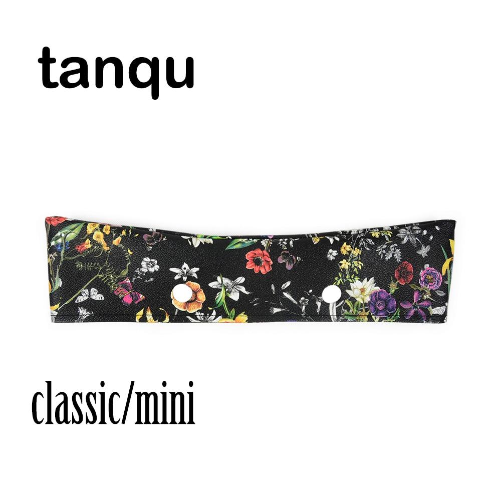 Tanqu PU Trim Thin Decoration For Obag Handbag Summer Classic Mini Floral For O Bag Body