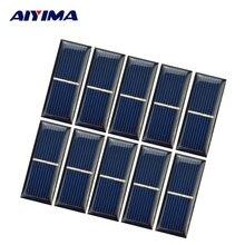 Módulo de Energia Aiyima 10 PCS Epóxi Painel Solar Célula 0.5 V 220ma Fotovoltaica DIY Bateria de Carro Carregador 55*22*3mm