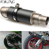 51mm 60mm Motorcycle Exhaust Muffler Pipe Exhaust Laser Stainless Steel With DB Killer CB600 FZ400 ER6N Nmax XMAX VMAX TMAX 500