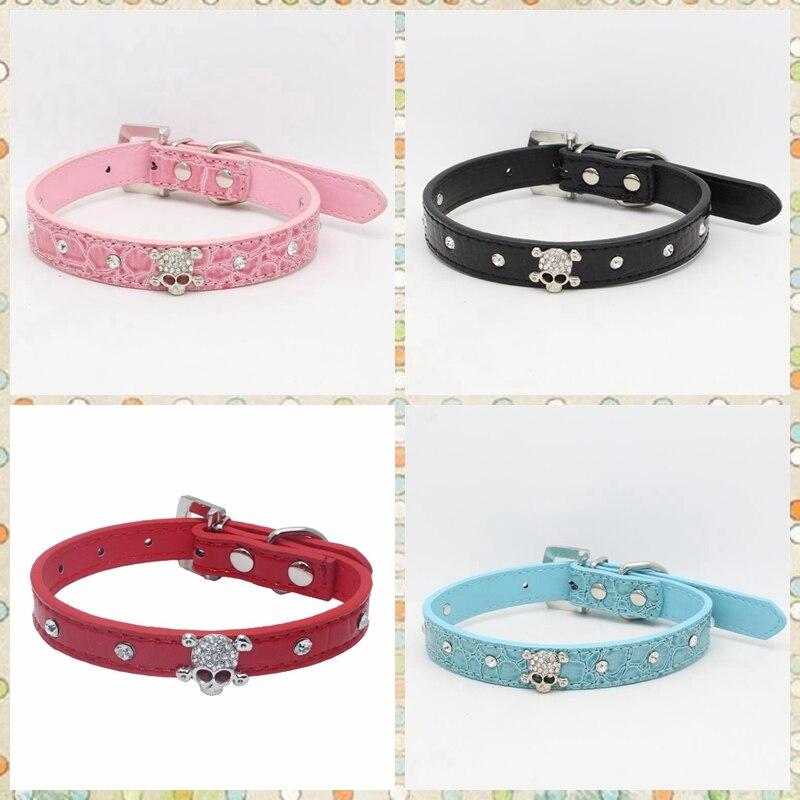 Baby Cachorros Perros 8/-10.5 Moda Cuero Pet Collar Ajustable Para Gatos