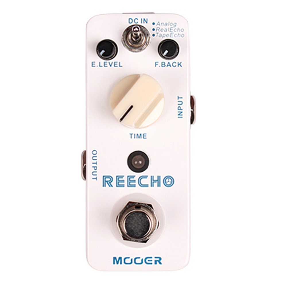 Mooer Reecho Delay Electric Guitar Pedal Effect True Bypass Effects aroma adl 1 true bypass delay electric guitar effect pedal high quality aluminum alloy guitar accessories delay range 50 400ms