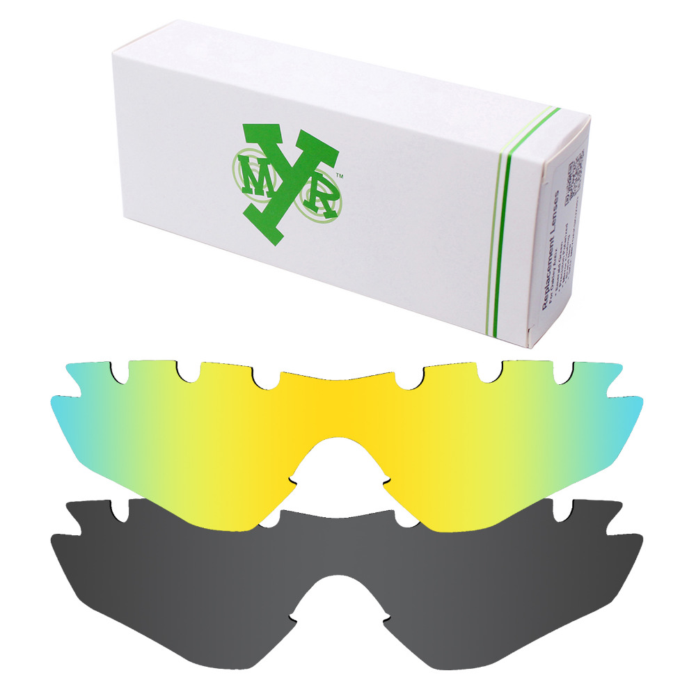 09ca143df7 2 Pieces Mryok POLARIZED Replacement Lenses for Oakley M2 Frame Vented Sunglasses  Lens Stealth Black   24K Gold