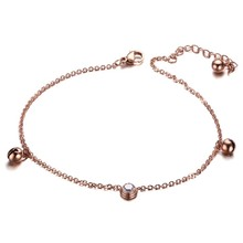 Stainless Steel Beach Jewelry Women's Fashion Rose Gold Ankle Bracelet