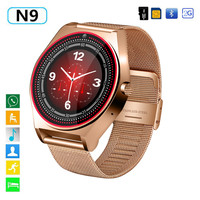 Smart Watch N9 V9 Plus Metal Strap Bluetooth Wrist Smartwatch Support Sim TF Card Android&IOS Watch Multi languages PK Y1 KW18