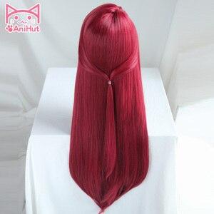 Image 3 - Anihut】 perruque de Cosplay synthétique Sakurauchi Riko, perruque rouge qui aime le soleil en direct, coiffure de Cosplay pour femmes