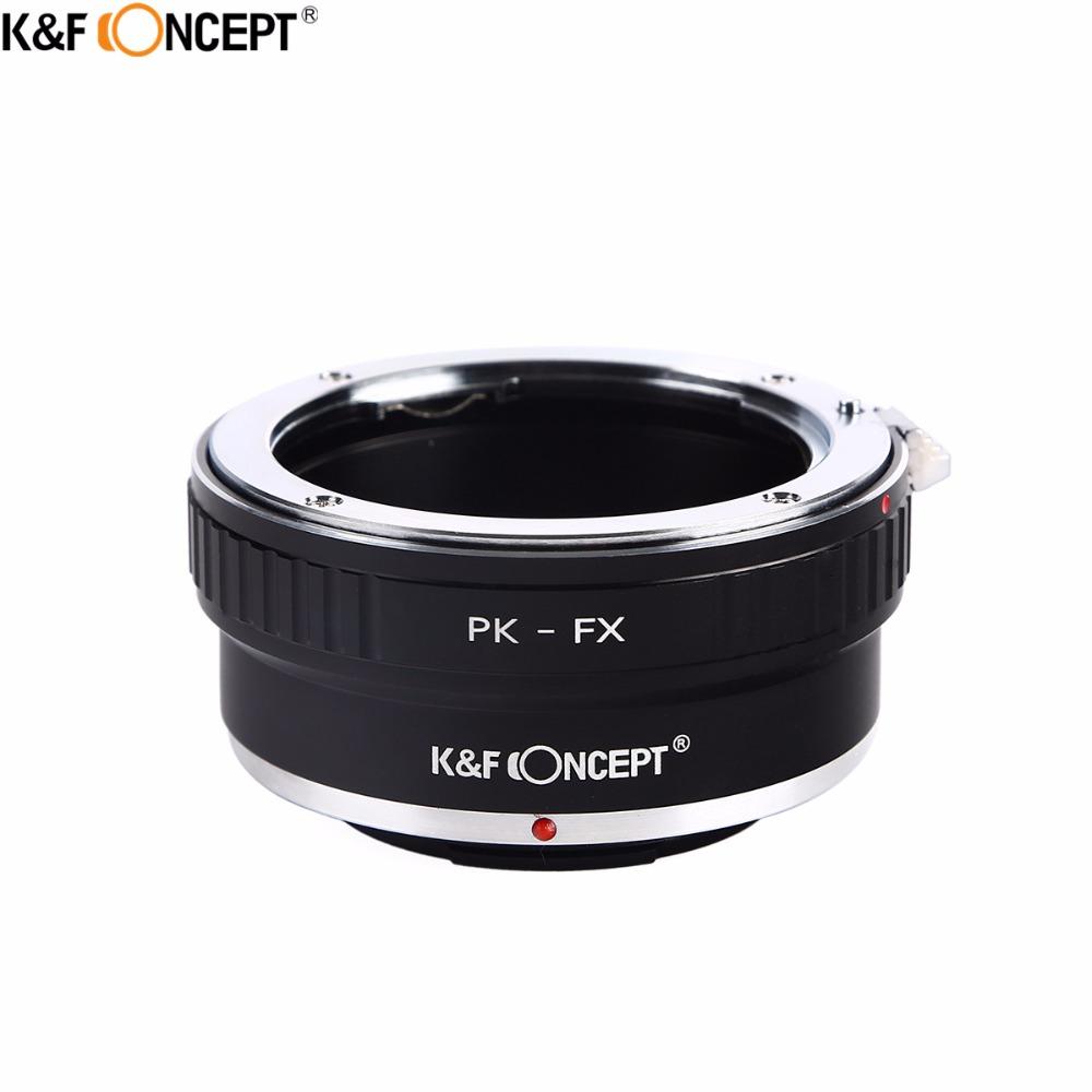 Prix pour K & f concept pk-fx camera lens adapter ring pour pentax pk k monture à fujifilm x mont caméra fuji fx x-pro1 x-e1 X-M1